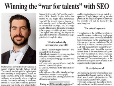 Winning the war for talents with SEO